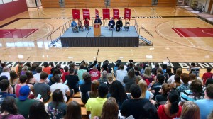 Photo of new student induction ceremony