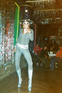 Bradley Bogart at Truman's Club, circa 1999.  Image Credit of the GLBTQ Collection of the Indiana University South Bend Archives. Alison Stankrauff, Archivist and Katie Madonna Lee, Creator of Collection.