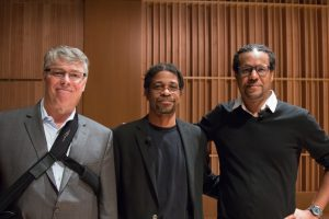 Photos of Chancellor Allison, Darryl Heller, Colson Whitehead