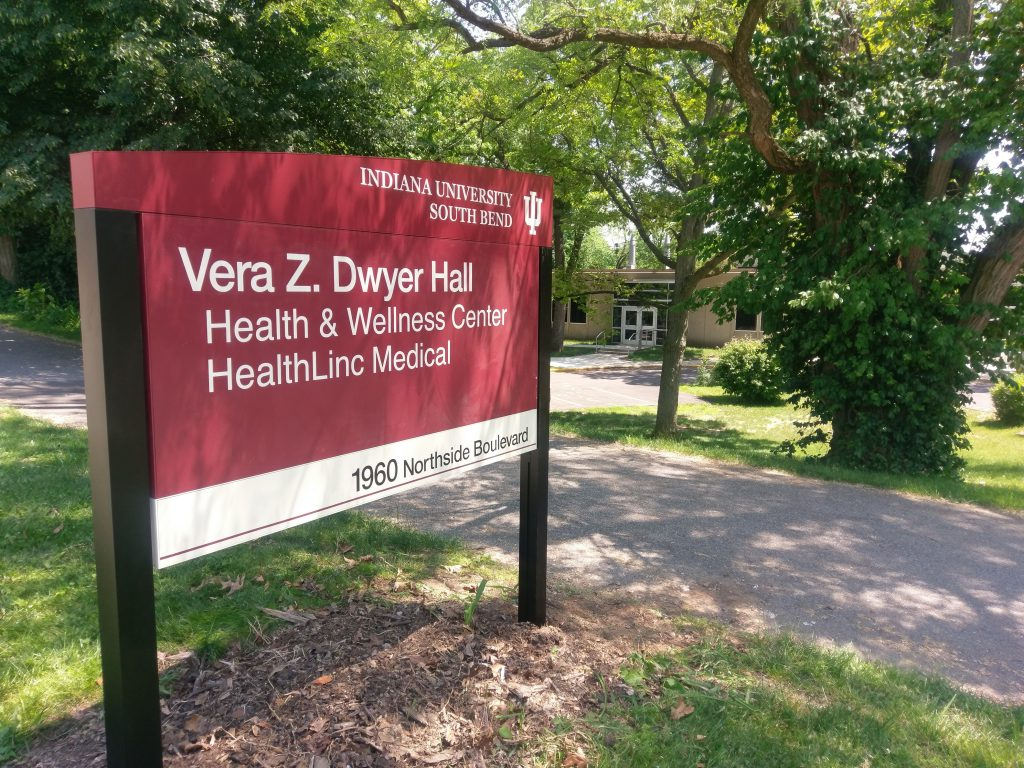 Photo of Dwyer Hall sign