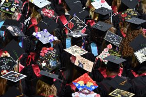 1,027 degrees were conferred at this year's commencement.