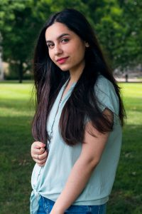 Freshman Tahyia Rehman Alvi came to IU South Bend from Pakistan for her pre-law education, and is a political science major.