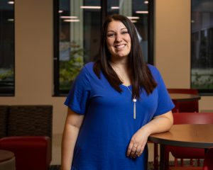 IU South Bend Senior and elementary education major Katie Andrews