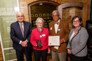 President Michael A. McRobbie, Melanie Smith-Guillaume, Alfred Guillaume, Chancellor Susan Elrod