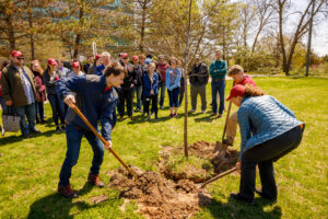 Previous Earth Day tree planting at IU South Bend